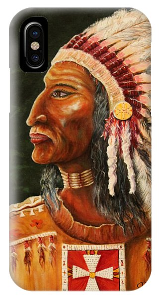 Native American Indian Chief IPhone Case