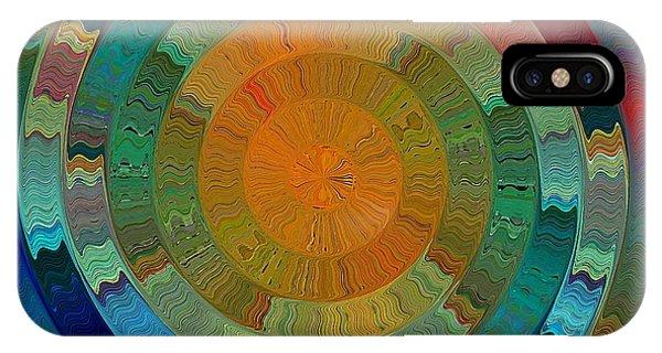 IPhone Case featuring the digital art Native Sun by David Manlove