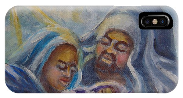 IPhone Case featuring the painting Nativity by Saundra Johnson