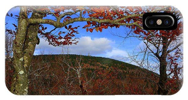 IPhone Case featuring the photograph Nature Frames Mount Greylock's Tower by Raymond Salani III