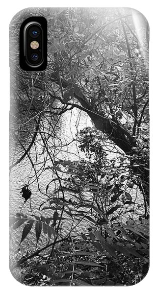 IPhone Case featuring the photograph Naturescape Black And White by Rachel Hannah