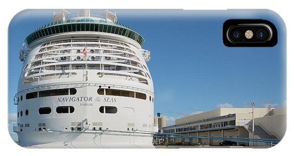 IPhone Case featuring the photograph Navigator Of The Seas At Dock by Bradford Martin