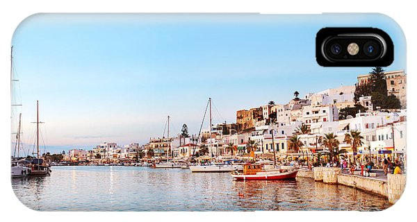 Clear iPhone Case - Naxos Old Town After Sunset, Greece by Justin Black