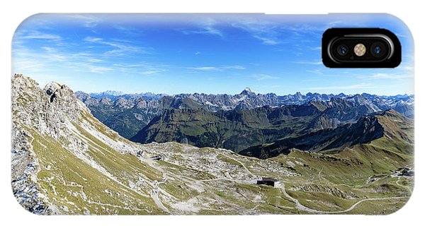 IPhone Case featuring the photograph Nebelhorn Panorama by Andreas Levi