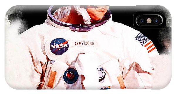 Kennedy Space Center iPhone Case - Neil Armstrong 1969 by Karl Knox Images