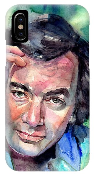 Diamond iPhone Case - Neil Diamond Portrait I by Suzann Sines