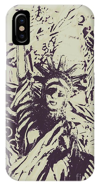 July 4 iPhone Case - Neoclassical Lady Landmark by Jorgo Photography - Wall Art Gallery