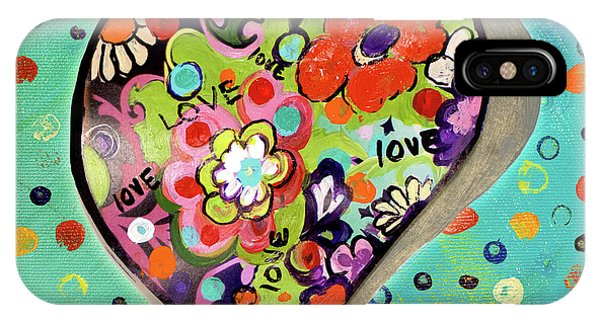 Neon iPhone Case - Neon Hearts Of Love IIi by Patricia Pinto