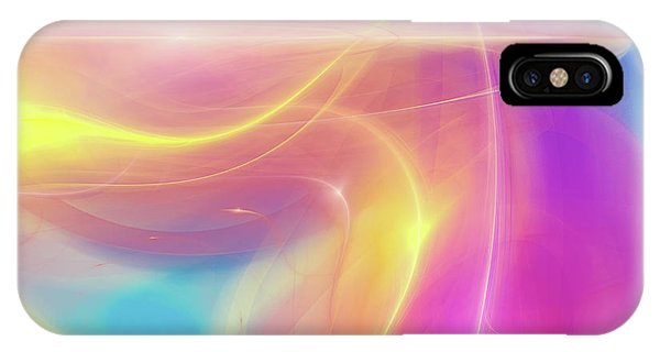 Neon Light  Cosmic Rays IPhone Case