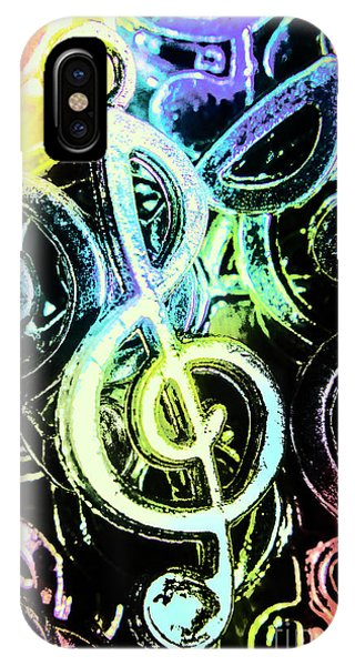Staff iPhone Case - Neon Notes by Jorgo Photography - Wall Art Gallery