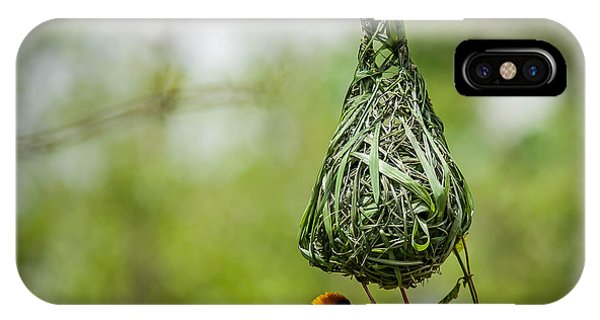Small iPhone Case - Nest-building by Bartosz Budrewicz