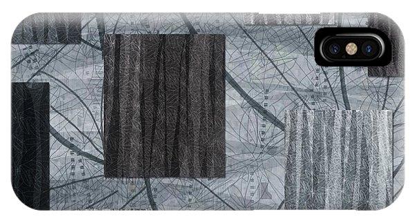 Neutral Toned Leaf Square Print IPhone Case