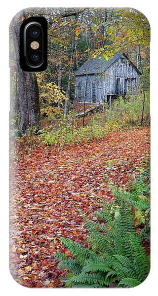 New England Barn iPhone Case - New England Autumn Woods by Bill Wakeley