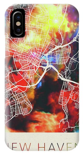 Haven iPhone Case - New Haven Connecticut Watercolor City Street Map by Design Turnpike