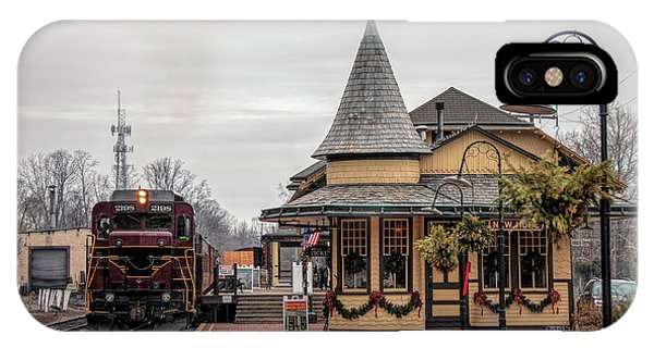 New Hope Train Station At Christmas IPhone Case