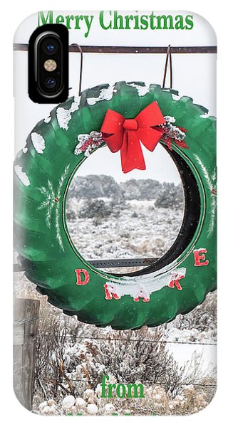 IPhone Case featuring the photograph New Mexico Christmas Card by Britt Runyon