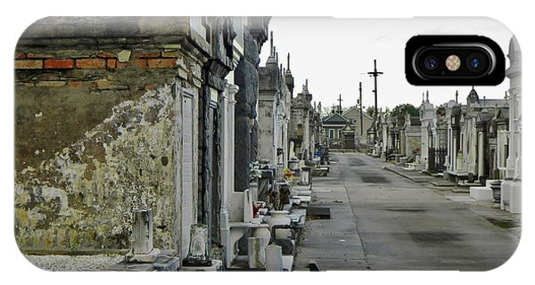 IPhone Case featuring the photograph New Orleans Cemetery by Rosanne Licciardi