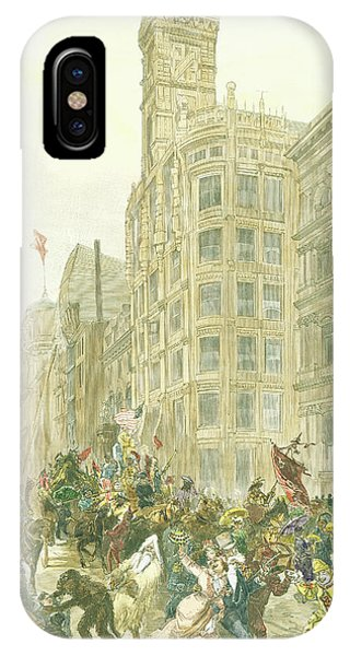 New Years Mummers On Chestnut Street IPhone Case