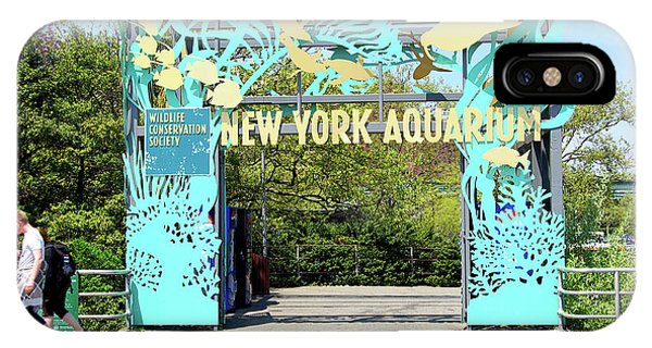 iPhone Case - New York Aquarium Entrance, Coney Island, Brooklyn, New York by Zal Latzkovich