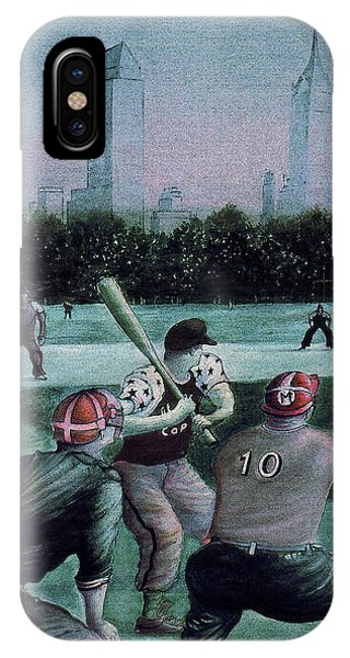 New York Central Park Baseball - Watercolor Art Painting IPhone Case