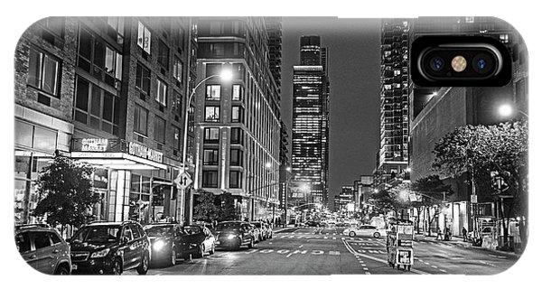 New York City Gotham West Market New York Ny Black And White IPhone Case