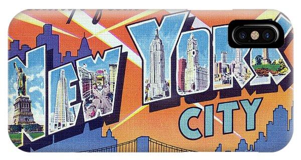 New York City Greetings - Version 2 IPhone Case