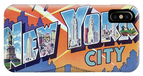 New York City Greetings - Version 2 IPhone Case