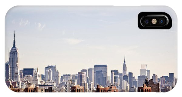 Clear iPhone Case - New York City Skyline Taken From by Andrey Bayda
