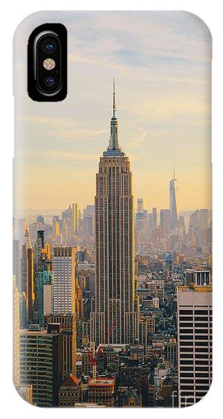 New York City Skyline With Urban Phone Case by Irina Kosareva