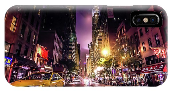 Neon iPhone Case - New York City Street by Nicklas Gustafsson