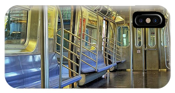 iPhone Case - New York City Empty Subway Car by Zal Latzkovich