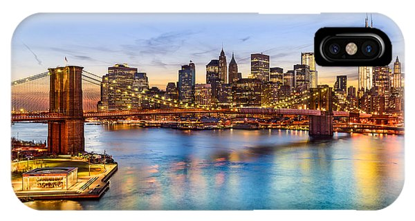 Office Buildings iPhone Case - New York City, Usa Skyline Over East by Sean Pavone