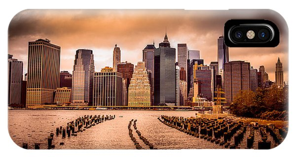 United States iPhone Case - New York City View Of Lower Manhattan by Littlenystock