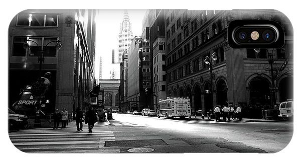 IPhone Case featuring the photograph New York, Street by Edward Lee