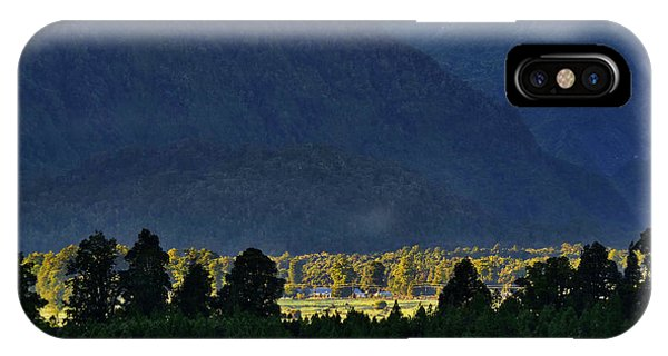 IPhone Case featuring the photograph New Zealand Alps Foothills Sunrise by Steven Ralser