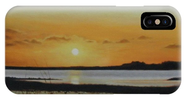 IPhone Case featuring the painting Newfoundland Sunset by Tammy Taylor