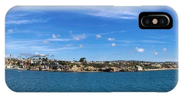 IPhone Case featuring the photograph Newport Harbor Panorama  by Brian Eberly