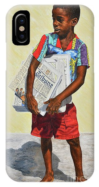Newspaper Boy IPhone Case