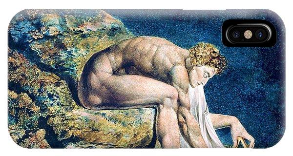 Sea Floor iPhone Case - Newton - Digital Remastered Edition by William Blake