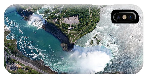 River Flow iPhone Case - Niagara Falls American And Canadian by Jiratthitikaln Maurice
