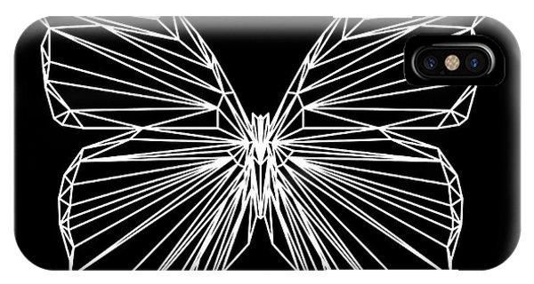 Lynx iPhone Case - Night Batterfly by Naxart Studio