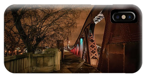 Chicago River iPhone Case - Night Bridge by Bruno Passigatti