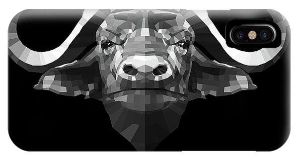 Lynx iPhone Case - Night Buffalo by Naxart Studio