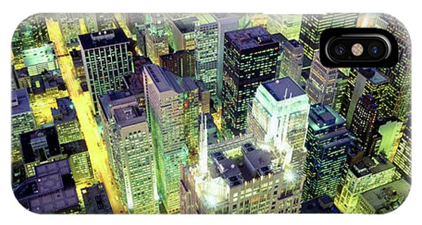 iPhone Case - Night, Chicago, Illinois, Usa by Panoramic Images