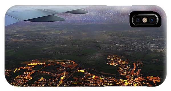 Night Flight Over City Lights IPhone Case