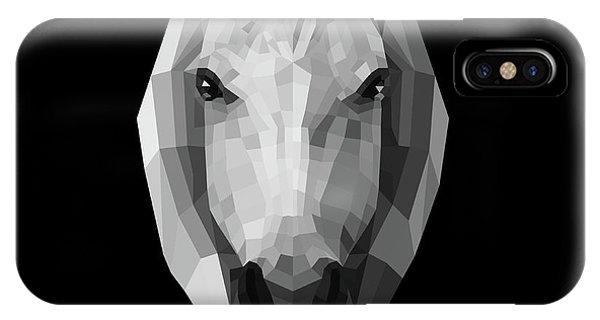 Lynx iPhone Case - Night Horse by Naxart Studio