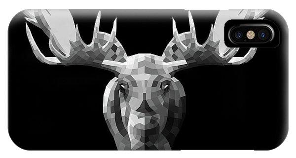Lynx iPhone Case - Night Moose by Naxart Studio