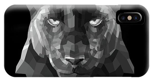 Lynx iPhone Case - Night Panther by Naxart Studio