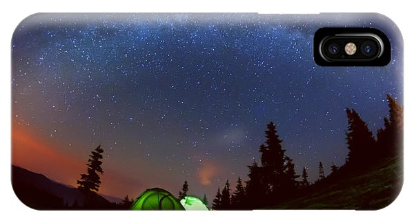 Achievement iPhone Case - Night Photo Of The Sky And The Milky by Ann Stryzhekin
