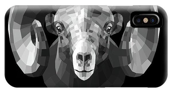 Lynx iPhone Case - Night Ram by Naxart Studio